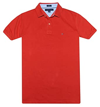 Tommy Hilfiger Classic Fit Men Polo T-shirt (M, Red)