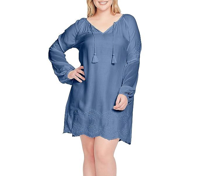 9b1d932ee92 Jessica Simpson Plus Size Anouk Crochet Hem Dress at Amazon Women s  Clothing store