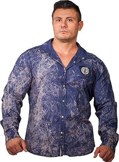 stilya Diseño Luxus Camisa sport – Camisa para hombre señor Camisa unidades limitadas * 7502 * Azul azul Large: Amazon.es: Ropa y accesorios