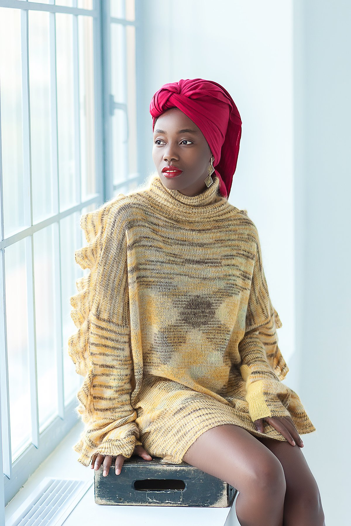 Knit designer sweater for women Oversized womens knitwear Long sleeved knitted pullover Merino wool sweater Yellow knitwear