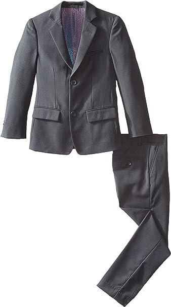Isaac Mizrahi Boys 2-Piece Slim Cut Wool Blend Suit-Husky Sizes