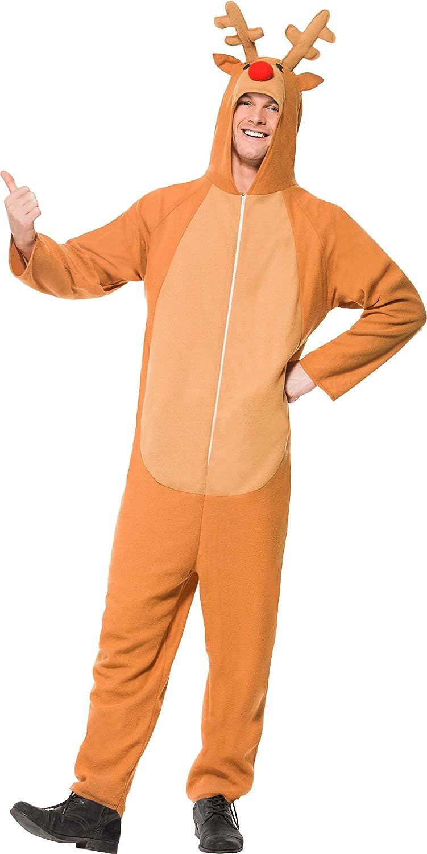 sc 1 st  Amazon.com & Amazon.com: Smiffyu0027s Adult Reindeer Costume: Clothing