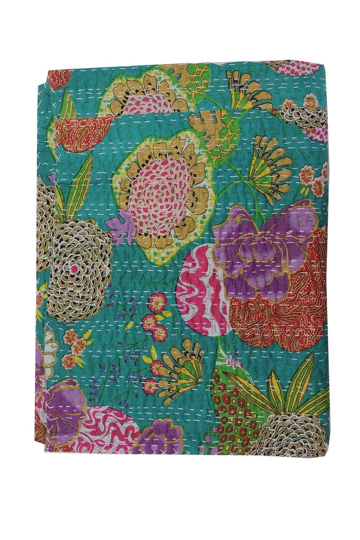 Sophia Art Kantha Quilt Frutas Hecho a Mano Indio de algod/ón Colcha Twin Size Gudari 60/x 90/Pulgadas