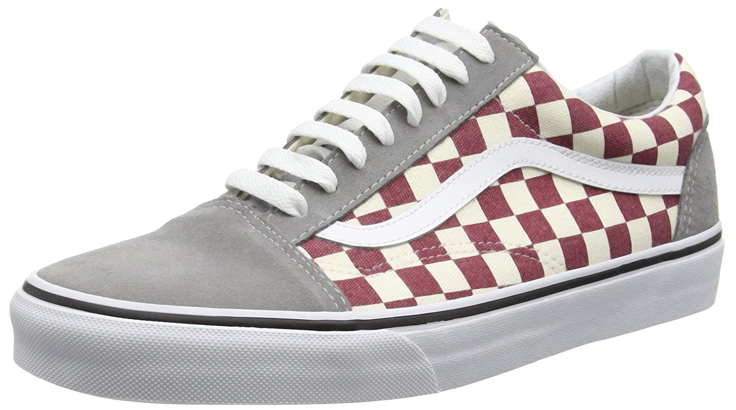 8747ab2b8d Vans Mens Checkerboard Old Skool Frost Grey Rhubarb Sneaker - 6  Amazon.ca   Shoes   Handbags