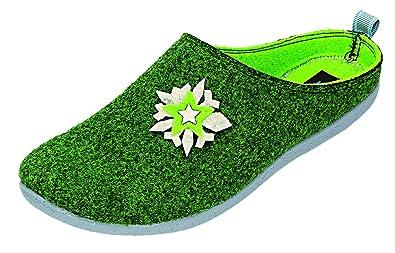 FlyFlot womens L. slipper green size 36.0 EU