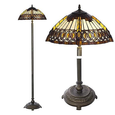 Lámpara de pie Tiffany Style, Tiff113, lámpara de pie ...