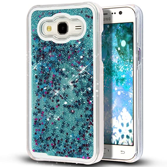new product 48dc9 f5821 Liquid Case for Samsung Galaxy J7,Creative Design Bling Glitter Shiny  Quicksand Sparkle Stars and Flowing Liquid Transparent Plastic Case for  Samsung ...