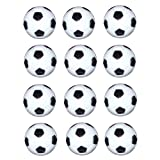 Vebere 12 pcs 32mm Small Plastic Soccer Black