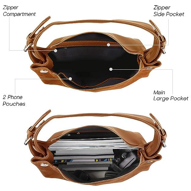 b5ee04c249214a Nico Louise Damen Echtes Leder Wildleder Handtasche Schulter Tasche Casual  Hobo Bag - -: Amazon.de: Bekleidung