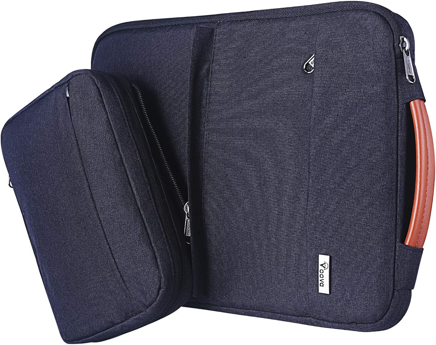 Voova Laptop Sleeve Case, Upgrade Smart Computer Carry Bag with Detachable Accessory Pouch Compatible with 13-13.3 Inch MacBook Air/MacBook Pro, 13.5 Surface Book 2,13 XPS/Chromebook, Waterproof