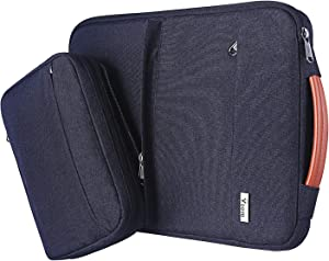 "Voova 14 15 15.6 Inch Laptop Sleeve Bag Cover Special Design Waterproof Computer Protective Carry Case with Detachable Accessory Pocket Compatible with MacBook Pro Retina 15"", Asus, Black"