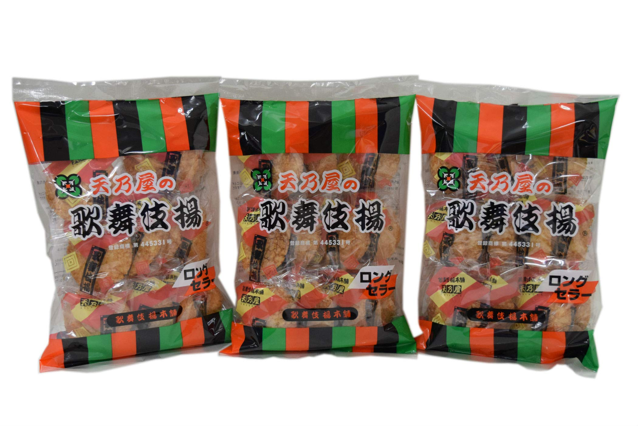 Amanoya Kabukiage Rice Cracker total 3 packs. Made in Japan. No. a043