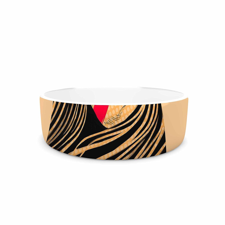 7\ KESS InHouse Barmalisirtb Tight-Lipped  Pink Vintage Pet Bowl, 7