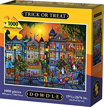 Amazon com: Dowdle Jigsaw Puzzle - Trick or Treat - 1000