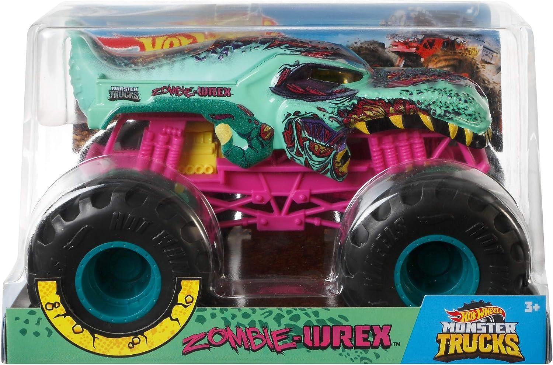 Hot Wheels Zombie Wrex Monster Truck, 1:24 Scale, Multi