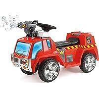 Toyrific 5031470061937 pour Enfant électrique Ride on Fire Engine avec Pistolet à Bulles, lumières et Sons