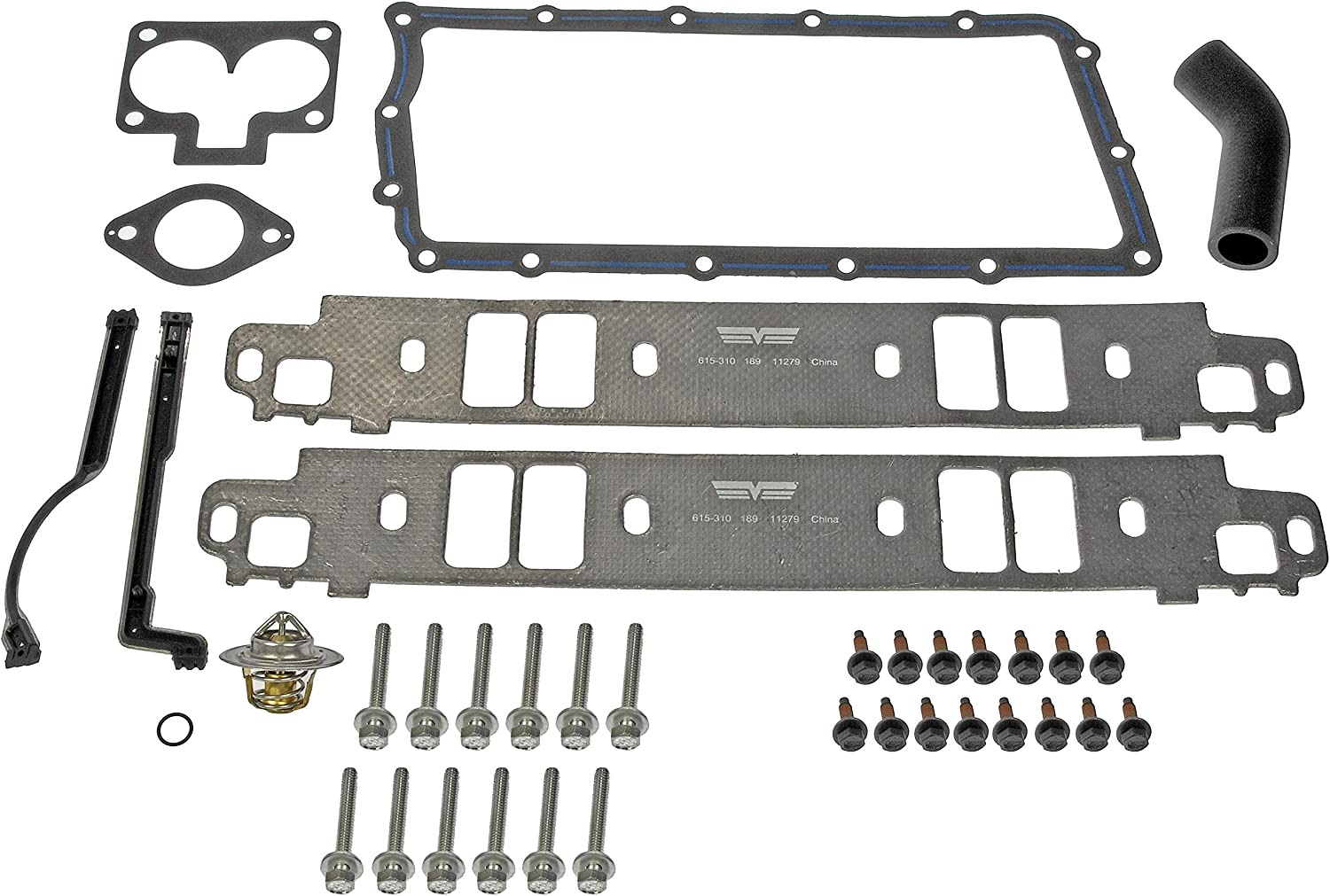 Amazon Com Dorman 615 310 Engine Intake Manifold Gasket Set For Select Dodge Jeep Models Black Automotive