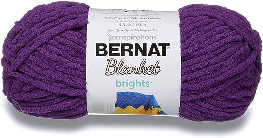 5.3 oz Gauge 6 Super Bulky Chunky Bernat Blanket Brights Yarn Busy Blue