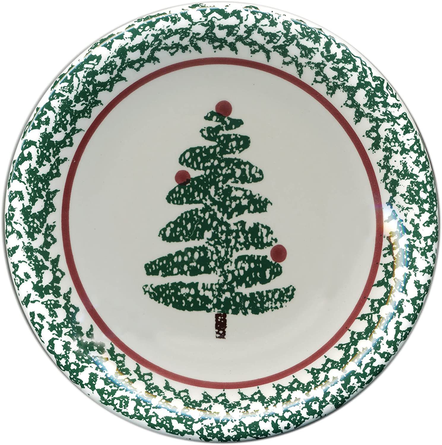 Furio Contemporary Casuals, 4 Holiday Christmas Tree Salad Plates