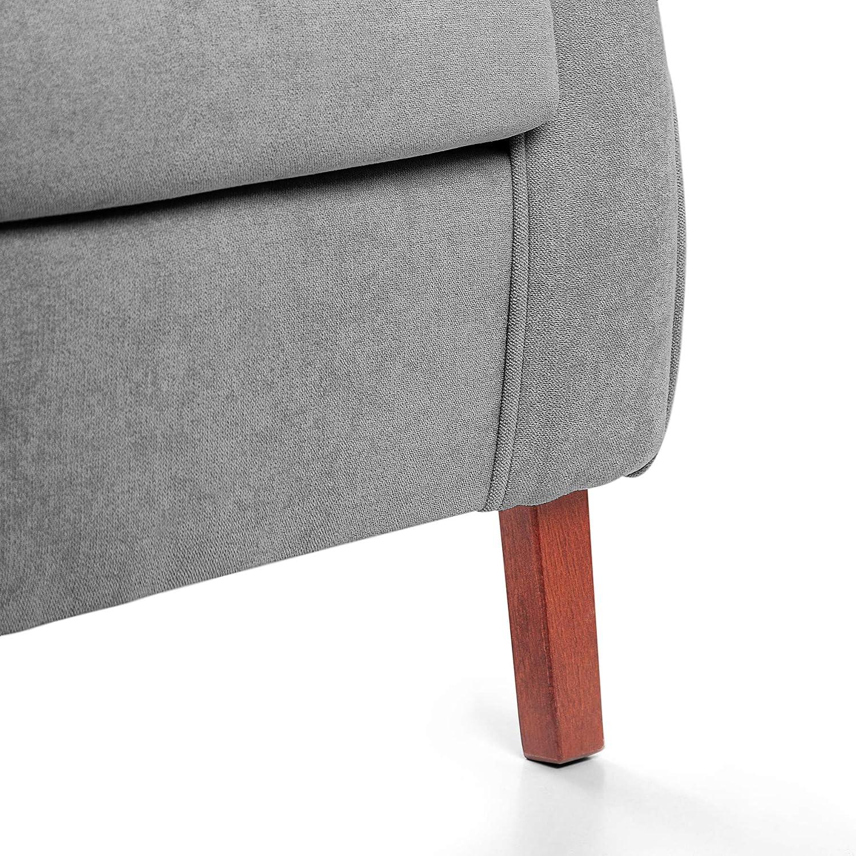 Sillon orejero CARLA (Sillon lactancia)Sillón tapizado antimanchas acualine color Gris. Sillon butaca para dormitorio, salon o habitacion de bebe   ...