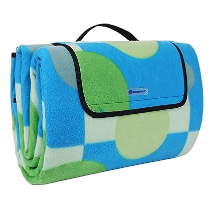 Decken & Inletts SONGMICS 200 x 200 cm XXL Picknickdecke Fleece wärmeisoliert wasserdicht mit... Schlafausrüstung
