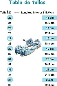 New front Ni/ñas Bailarina Sandalias Festivo Zapatos de Princesa Elsa Ni/ños Frozen Disfraz Reina de Hielo Zapatos Fiesta Brillando Planos Verano Zapatilla Ballet Cosplay Boda Carnaval 3-12a/ños EU 22-36