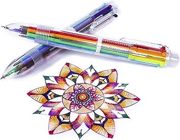 Creative Stationery Multi-Color Ballpoint Pen Six-color Ballpoint Pen Study Pe$T
