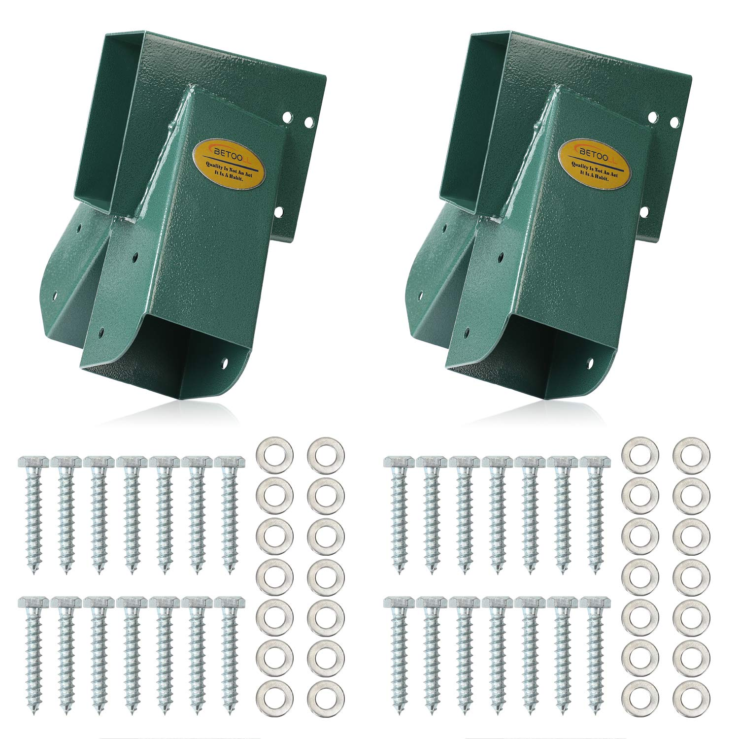 BETOOLL Easy 1-2-3 A-Frame 2 Brackets Swing Set Bracket with Mounting Hardware (Green) by BETOOLL