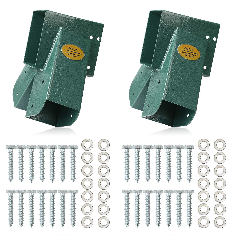 BETOOLL Easy 1-2-3 A-Frame 2 Brackets Swing Set Bracket with Mounting Hardware (Green)