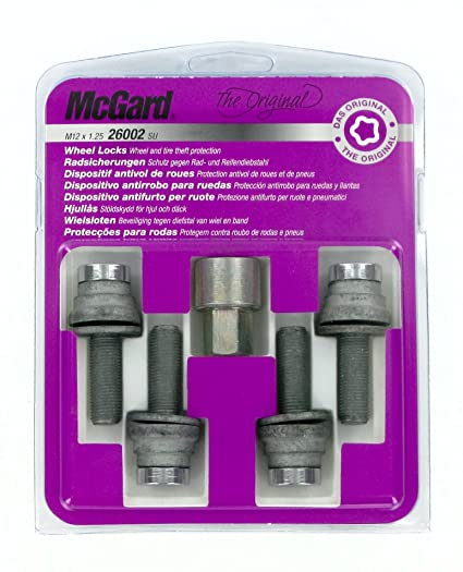 McGard Bolt Lock SL (Ultra High Security M12 x 1.25, Conical Rosette Length,