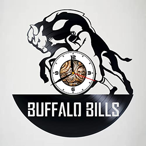 Buffalo Bills - Handmade Vinyl Record Wall CLock - Get unique gifts presents  for birthday 5d4a575f82f4