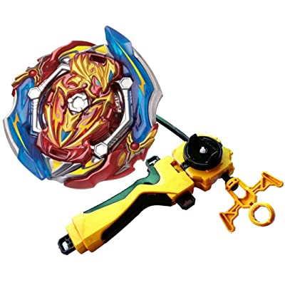 Bey Burst Evolution Turbo Battling Top Blade God Bey Gold Lr Launcher Grip Spryzen Starter Set B-150 Booster Union Achilles Cn.Xt+Retsu Balance Gyro Bay Battle Gaming Top Fun Spinning Toy Gift for Boy: Toys & Games