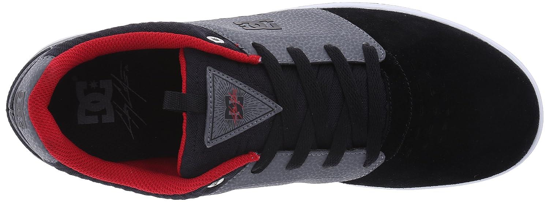 DC DC DC Apparel, Herren Skateboardschuhe Grau grau schwarz rot 86a238