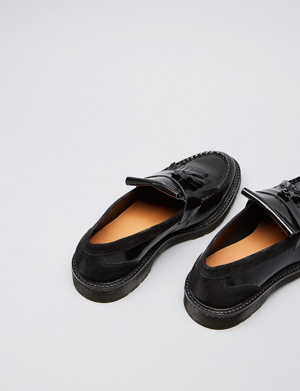 FIND Mocasines de Borlas y Flecos para Hombre, Negro (Black), 41 EU: Amazon.es: Zapatos y complementos
