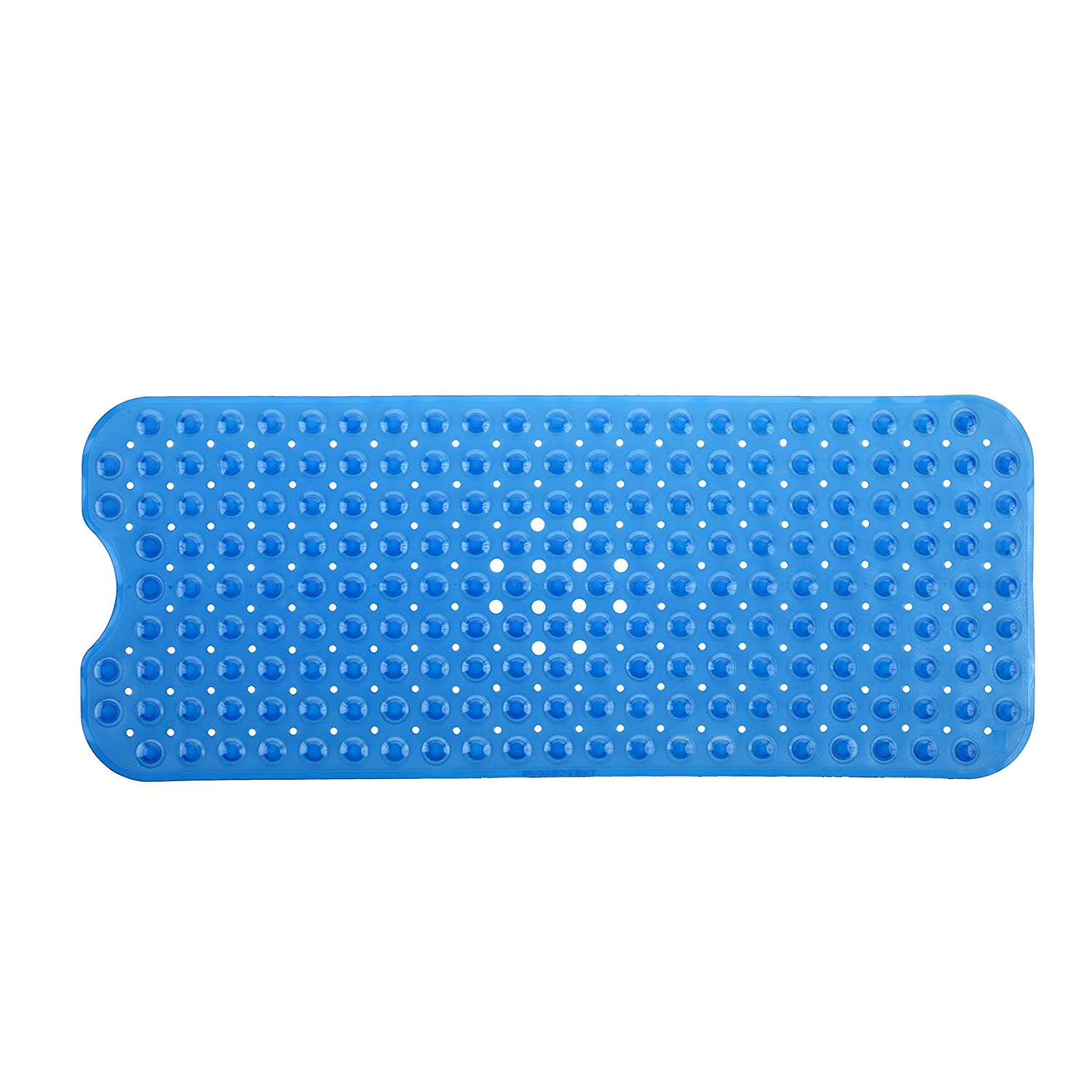 Amazon.com: SlipX Solutions Blue Extra Long Bath Mat Adds Non-Slip ...