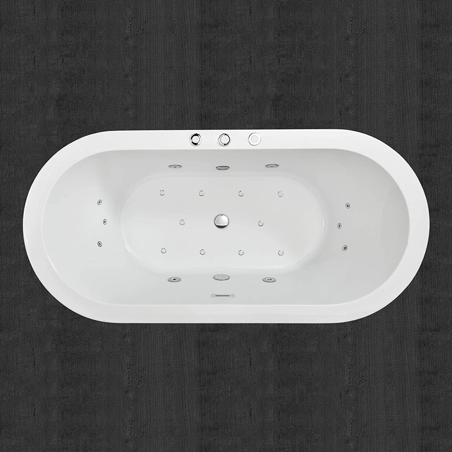 Best Whirlpool Tubs-Best features: Woodbridge White 67 inches