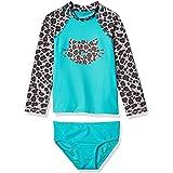 Amazon Brand - Spotted Zebra Girls' Tankini Rashguard Swimsuit Sets