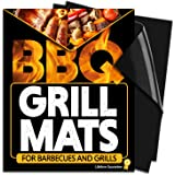 Latest Non Stick Grill Mat - Set Of 2 Heavy Duty, BBQ Grilling Mats - 16 x 13 Inch - Use on Gas, Charcoal, Electric Barbeque, Oven or Smoker