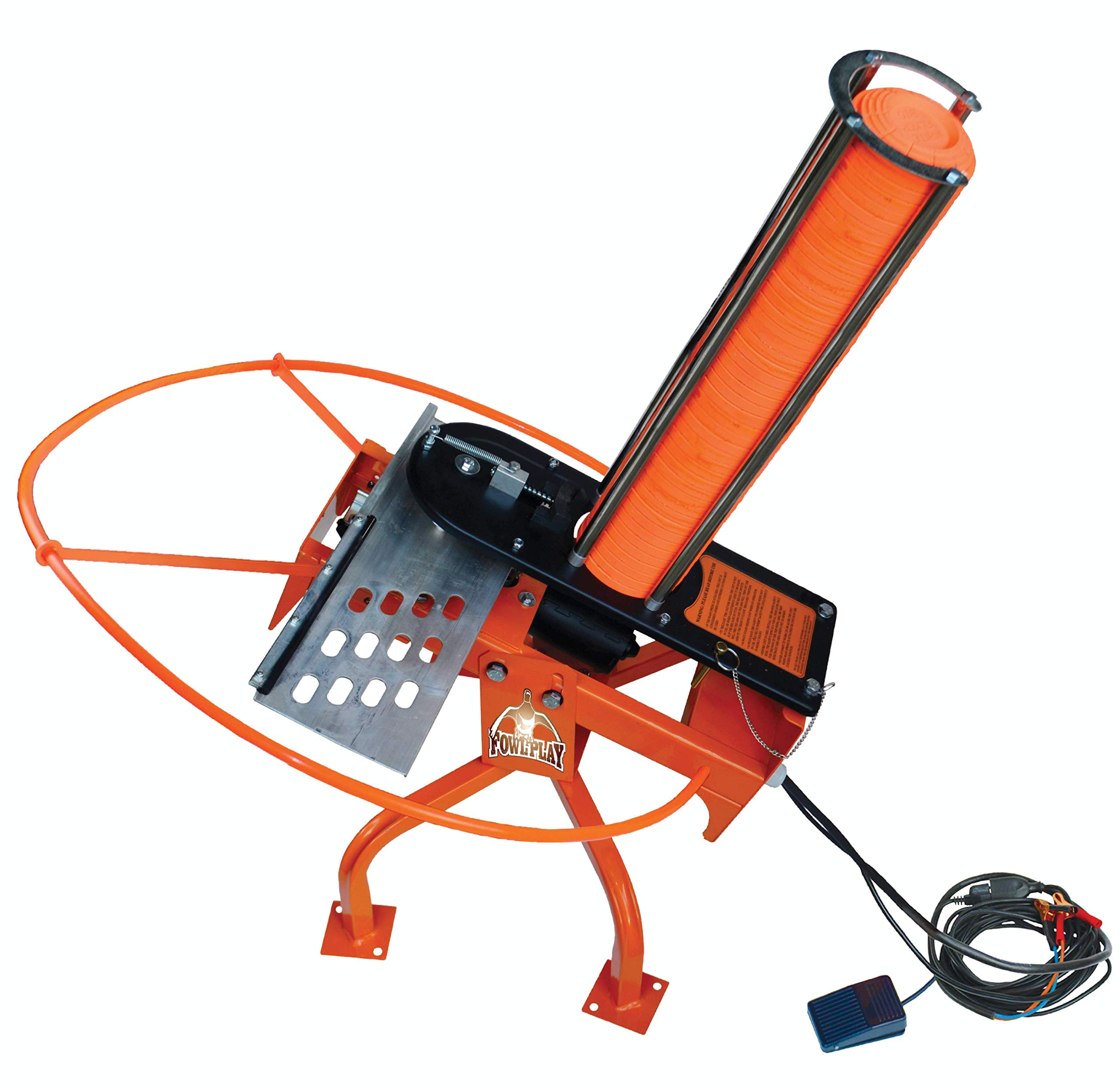 Do-All Outdoors Fowl Play Automatic Clay Pigeon Skeet Thrower Trap, 50 Clay Capacity , Orange
