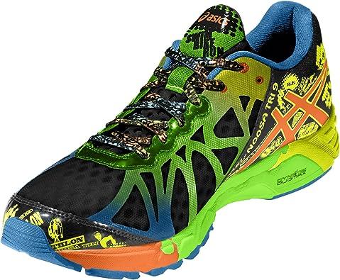Asics Gel-Noosa Tri 9, Zapatillas de Running para Hombre, Negro/Azul/Verde/Amarillo, 45 EU: Amazon.es: Zapatos y complementos