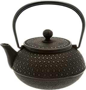 Iwachu Japanese Iron Tetsubin Teapot, 30-Ounce, Black Honeycomb
