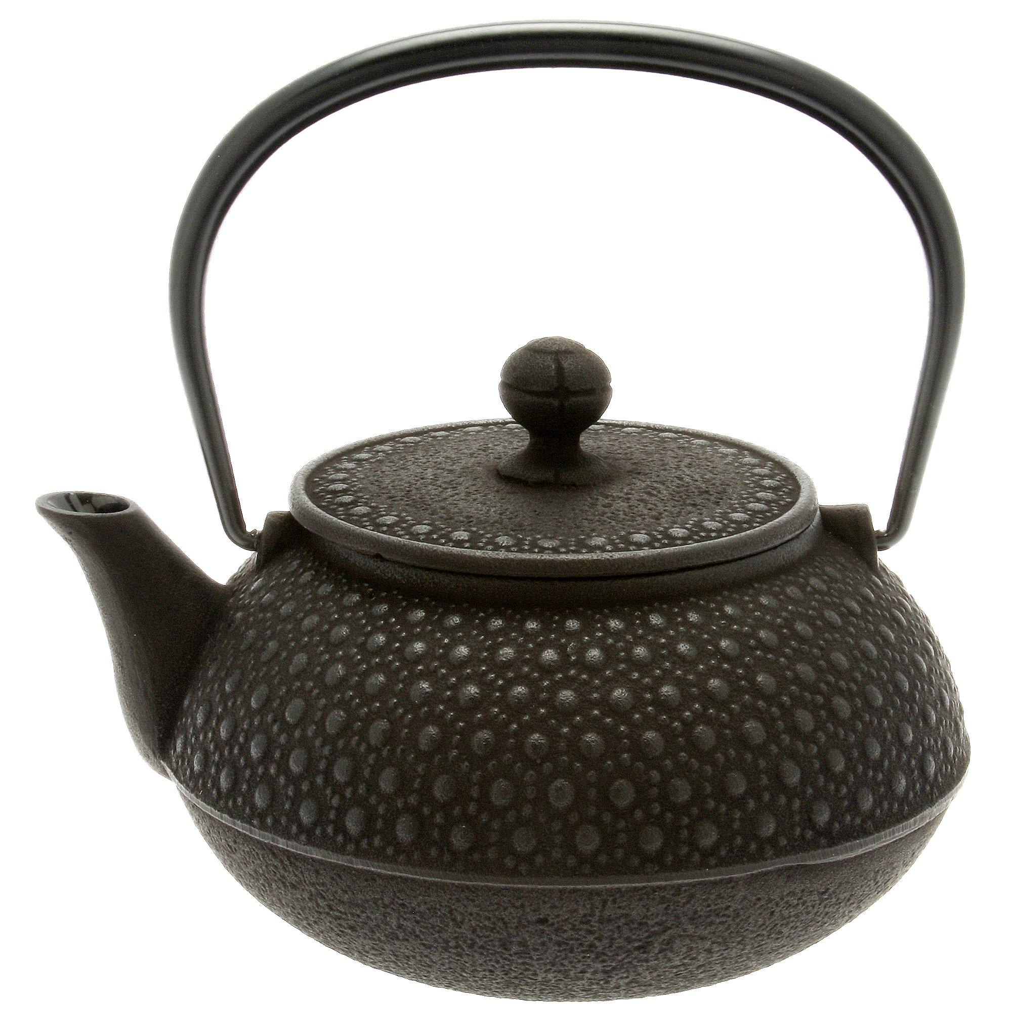 Iwachu Japanese Iron Tetsubin Teapot, 30-Ounce, Black Honeycomb