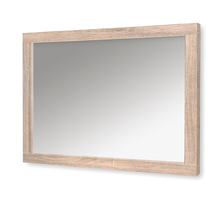 Julian Bowen Hamilton Wandspiegel, Holz, braun, 100 x 1,6 x 80 cm