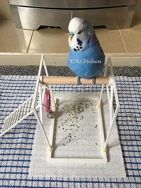 Percha para pájaros de Amazon Percha de Suelo/Suelo, periquitos, cacatúas, Loros, etc. Pájaro Playground Atrapa Las Gotas (Incluye Accesorio para Escalera): Amazon.es: Productos para mascotas