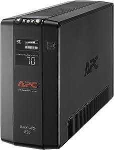 APC UPS, 850VA UPS Battery Backup & Surge Protector, BX850M Backup Battery, AVR, Dataline Protection and LCD Display, Back-UPS Pro Uninterruptible Power Supply