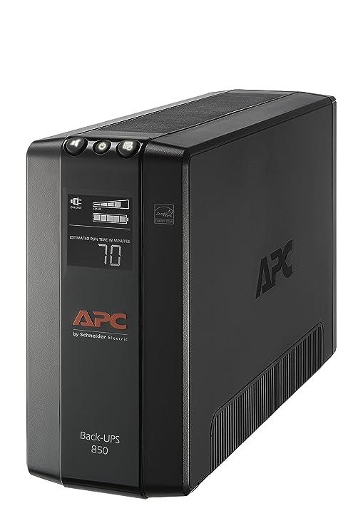 APC UPS Battery Backup & Surge Protector with AVR, 850VA, APC Back-UPS Pro  (BX850M)