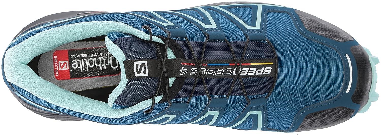 Salomon Women's Speedcross 4 Wide W Trail Running Shoe B073K2R5GN 9 W US|Poseidon