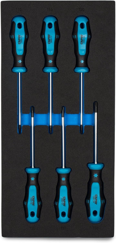 8-Piece with The Mechanics Tray Capri Tools Kontour Screwdriver Set