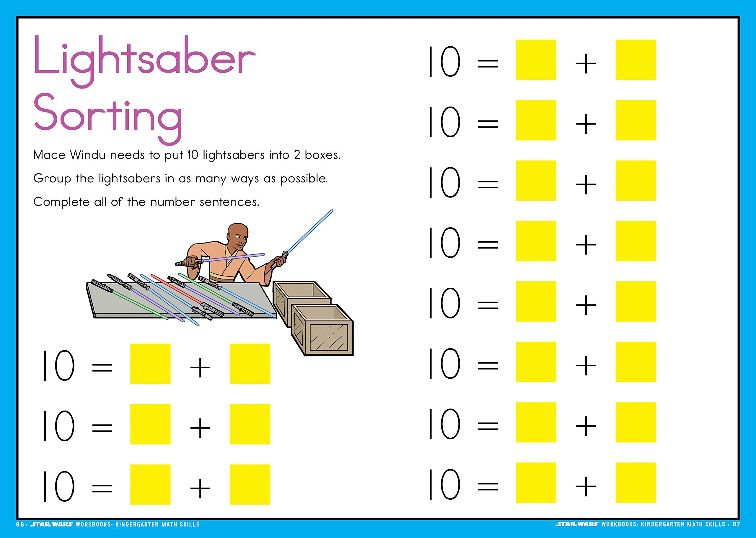 Star Wars Workbook: Kindergarten Math Skills: Workman ...