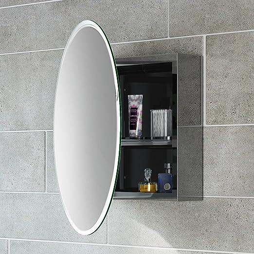 Amazon De Soak Moderner Spiegelschrank Aus Edelstahl Fur Das